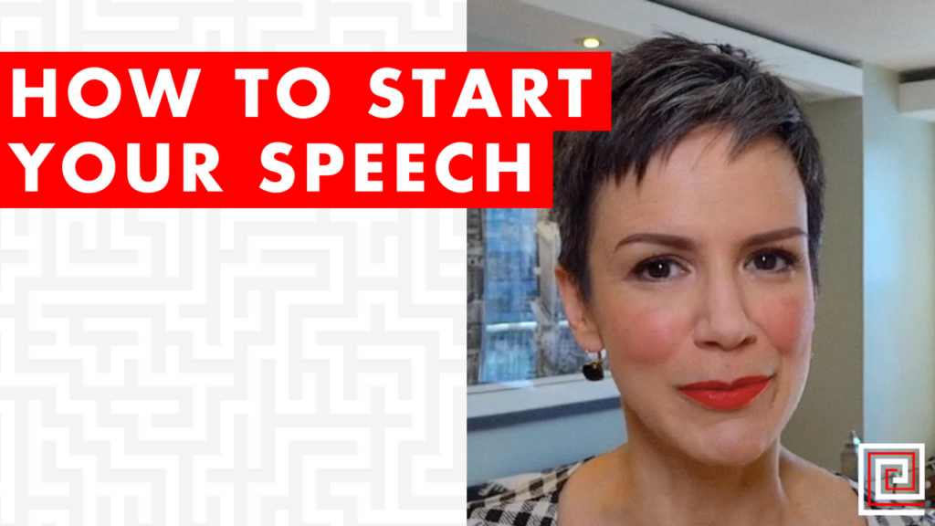 how to start your speech-red thread-presenting