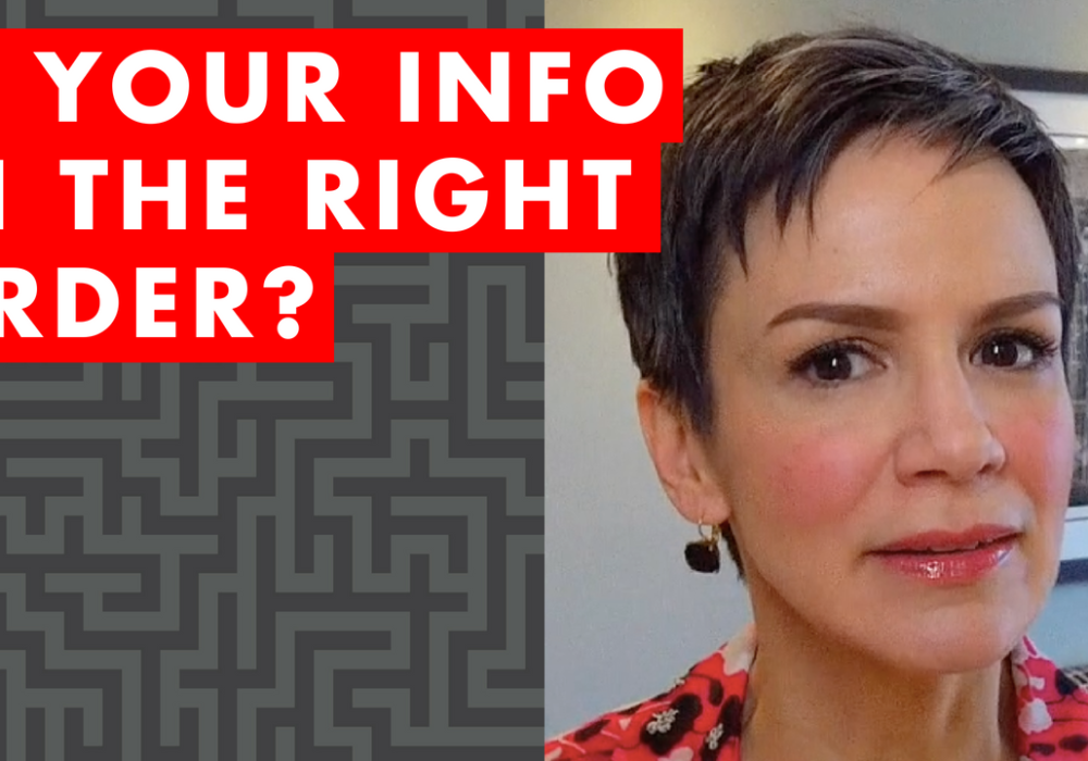 Is Your Info in the Right Order? – EP014