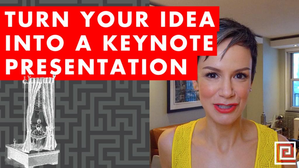 keynote presentation-red thread-presenting