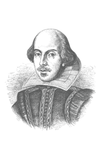 Engraved illustration of William Shakespeare