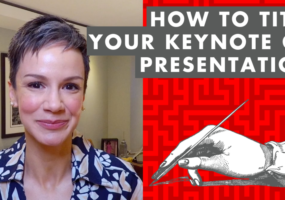 How to Title Your Keynote or Presentation - EP:096