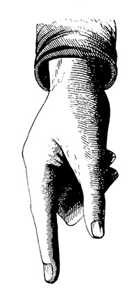 """""""Antique 19th-century illustration of human hand pointing left (isolated on white). Illustation published by Conner&Son, New York, USA (1860)CLICK ON THE LINKS BELOW FOR HUNDREDS MORE SIMILAR IMAGES:"""""""